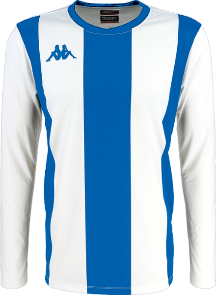 Caserne Match Shirt LS White / Blue Nautic